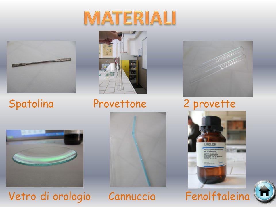 MATERIALI Spatolina Provettone 2 provette