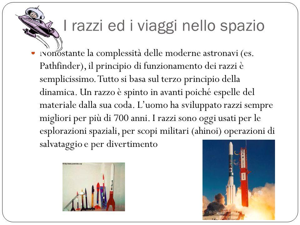 I razzi ed i viaggi nello spazio