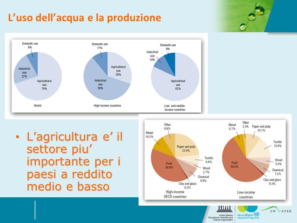 L'uso dell'acqua e la produzione