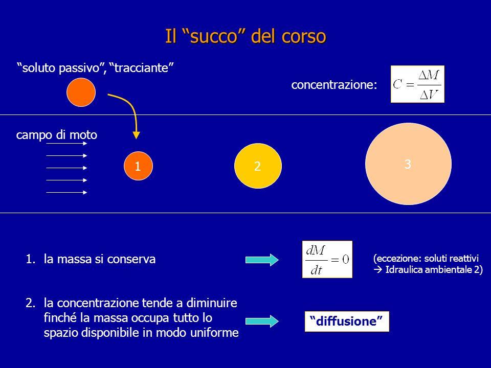Il succo del corso soluto passivo , tracciante concentrazione: