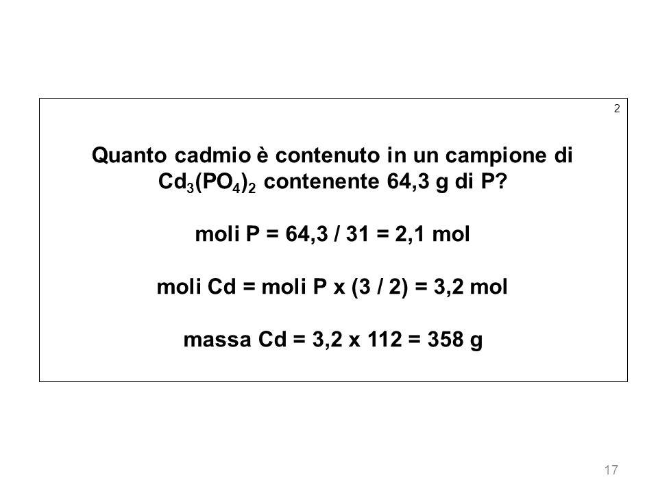 moli Cd = moli P x (3 / 2) = 3,2 mol