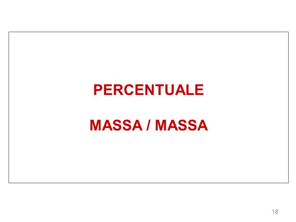PERCENTUALE MASSA / MASSA