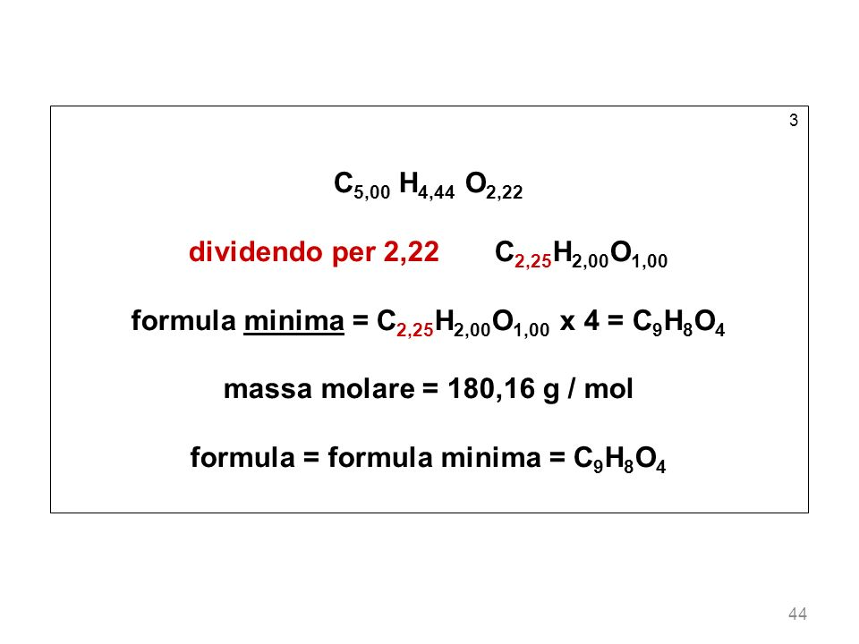 formula = formula minima = C9H8O4