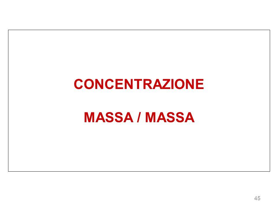 CONCENTRAZIONE MASSA / MASSA