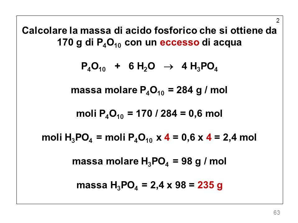 moli H3PO4 = moli P4O10 x 4 = 0,6 x 4 = 2,4 mol