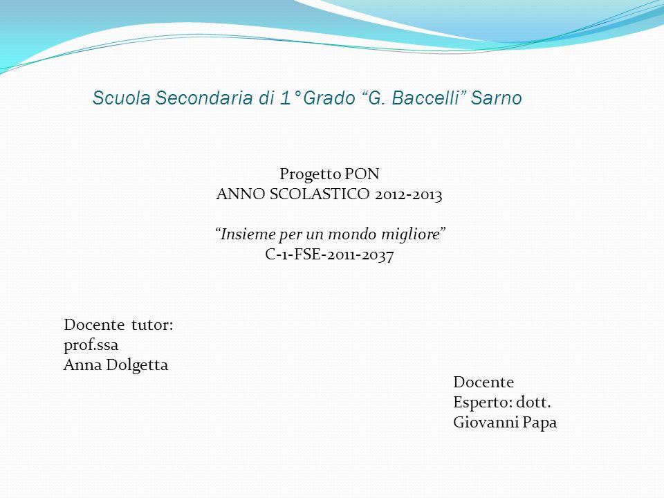 Scuola Secondaria di 1°Grado G. Baccelli Sarno