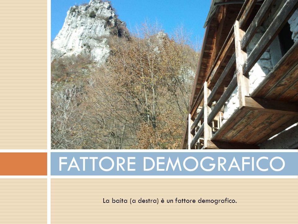 FATTORE DEMOGRAFICO La baita (a destra) è un fattore demografico.