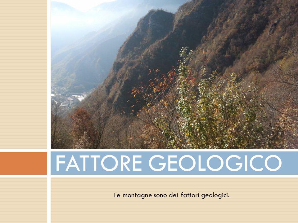 Le montagne sono dei fattori geologici.