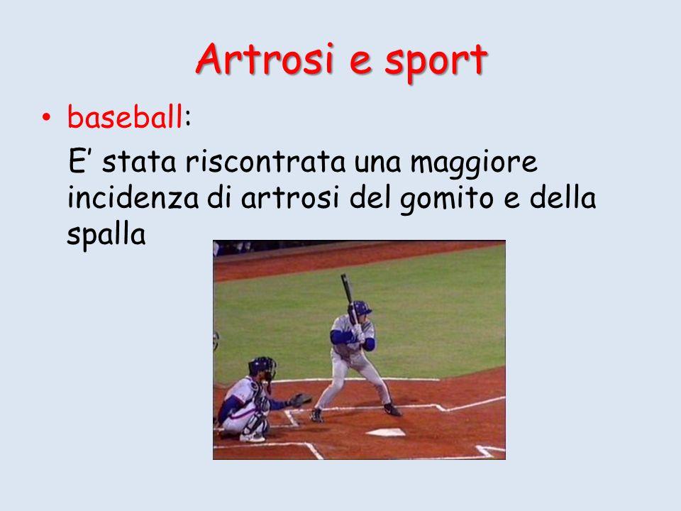 Artrosi e sport baseball: