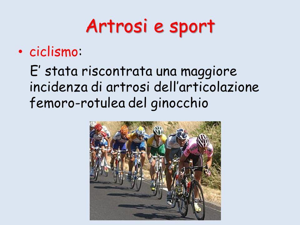 Artrosi e sport ciclismo: