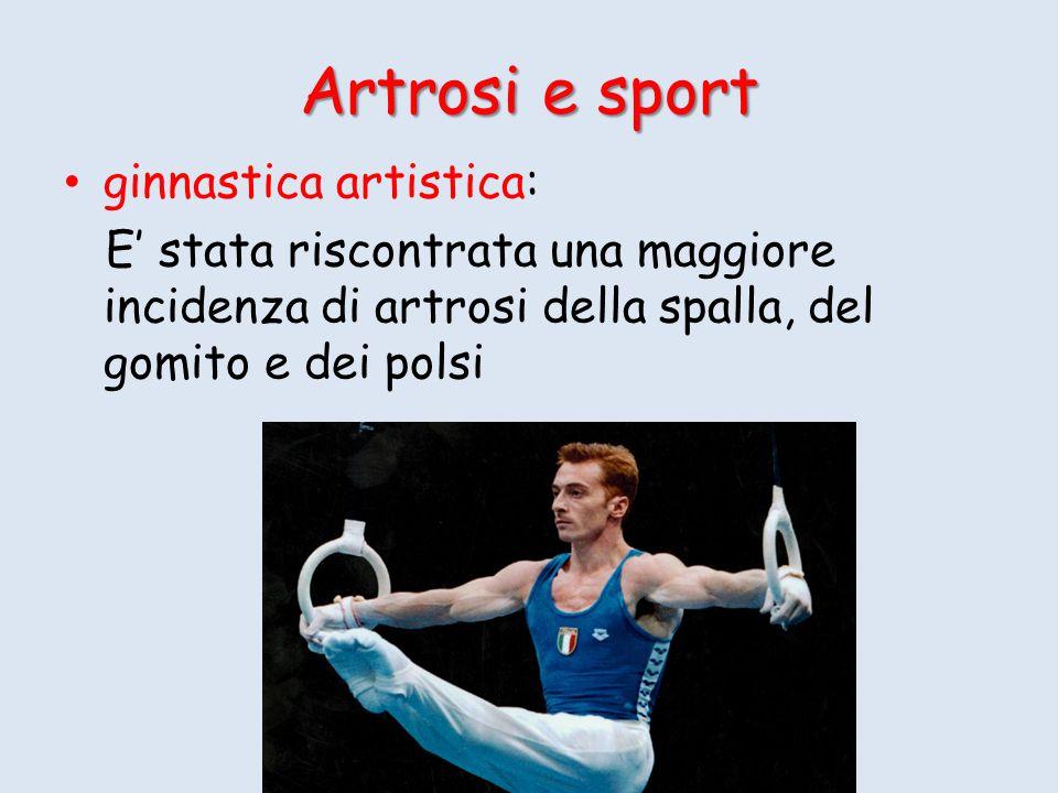 Artrosi e sport ginnastica artistica: