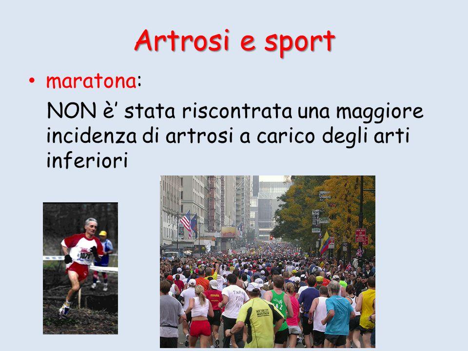 Artrosi e sport maratona: