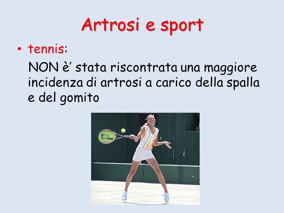 Artrosi e sport tennis: