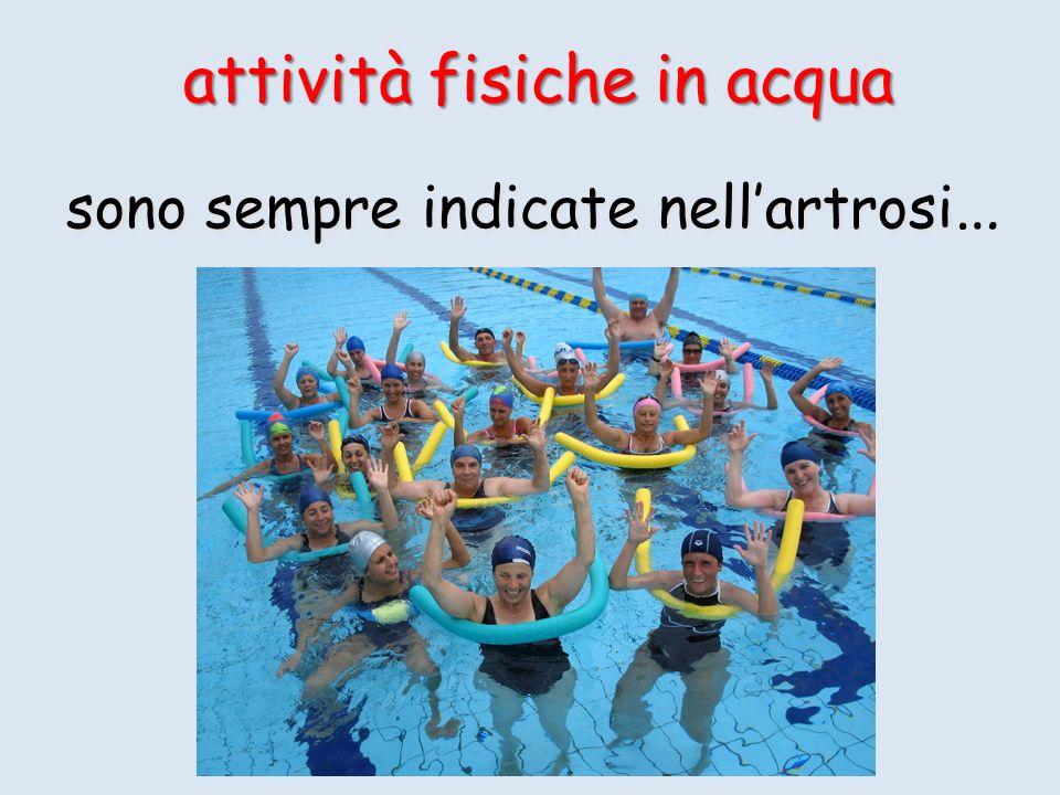 attività fisiche in acqua