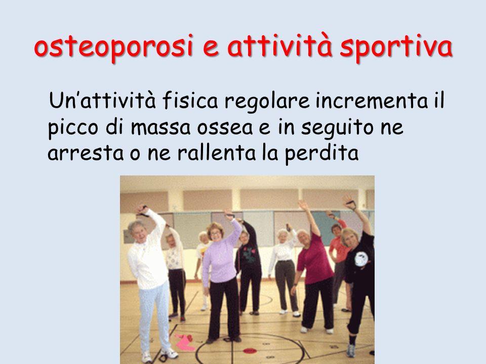 osteoporosi e attività sportiva