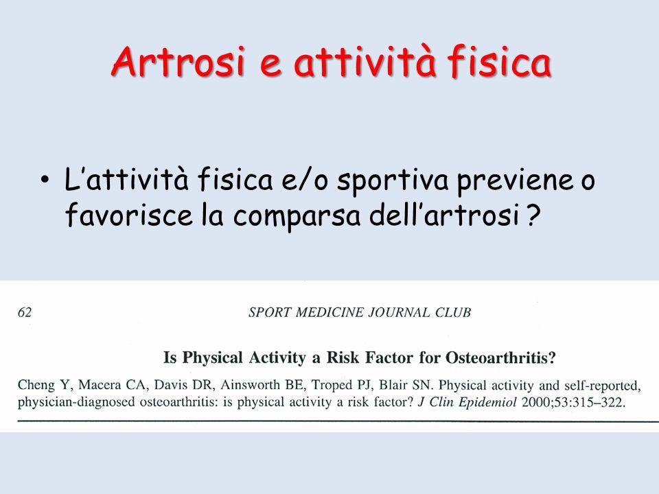 Artrosi e attività fisica