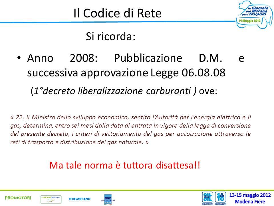 Il Codice di Rete 13-15 maggio 2012 PROMOTORI Modena Fiere Si ricorda: