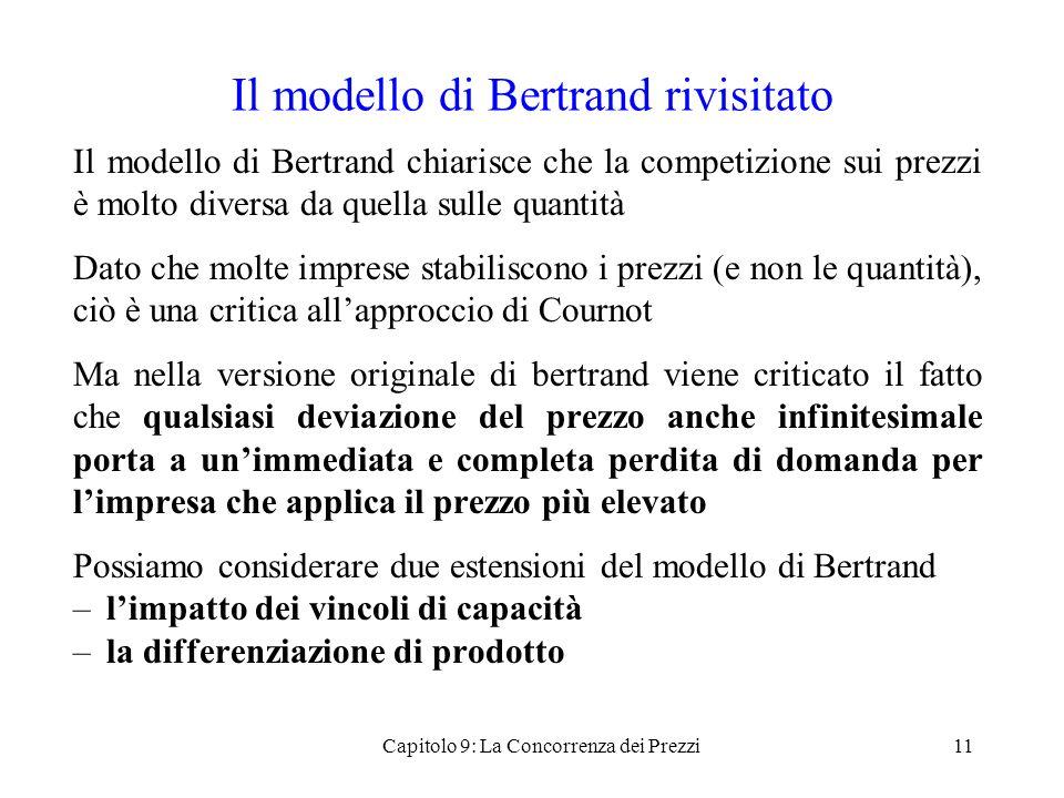 Il modello di Bertrand rivisitato
