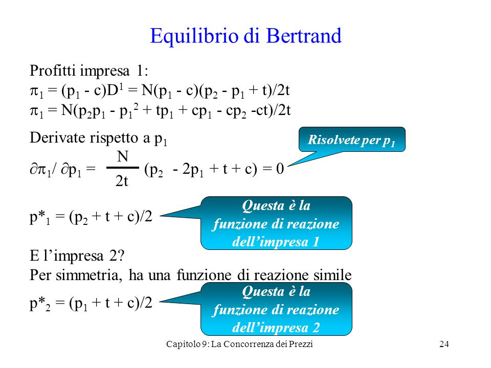 Equilibrio di Bertrand