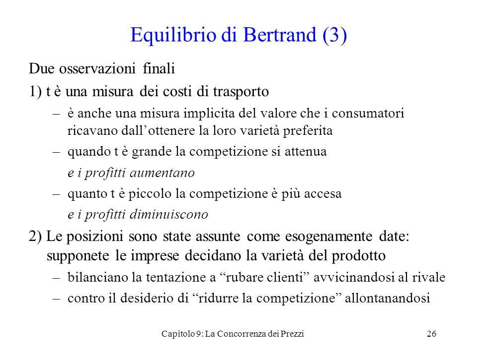 Equilibrio di Bertrand (3)