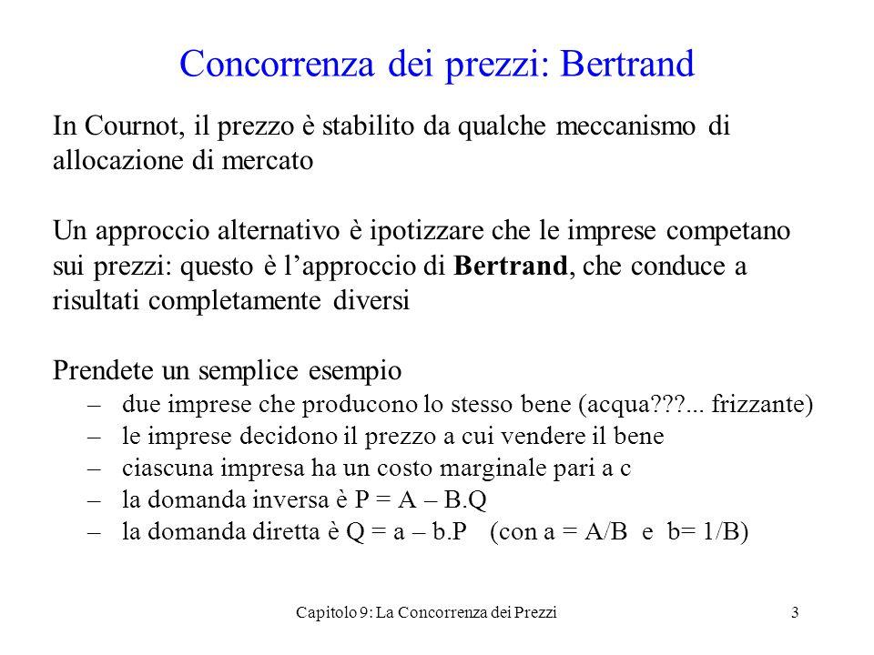 Concorrenza dei prezzi: Bertrand