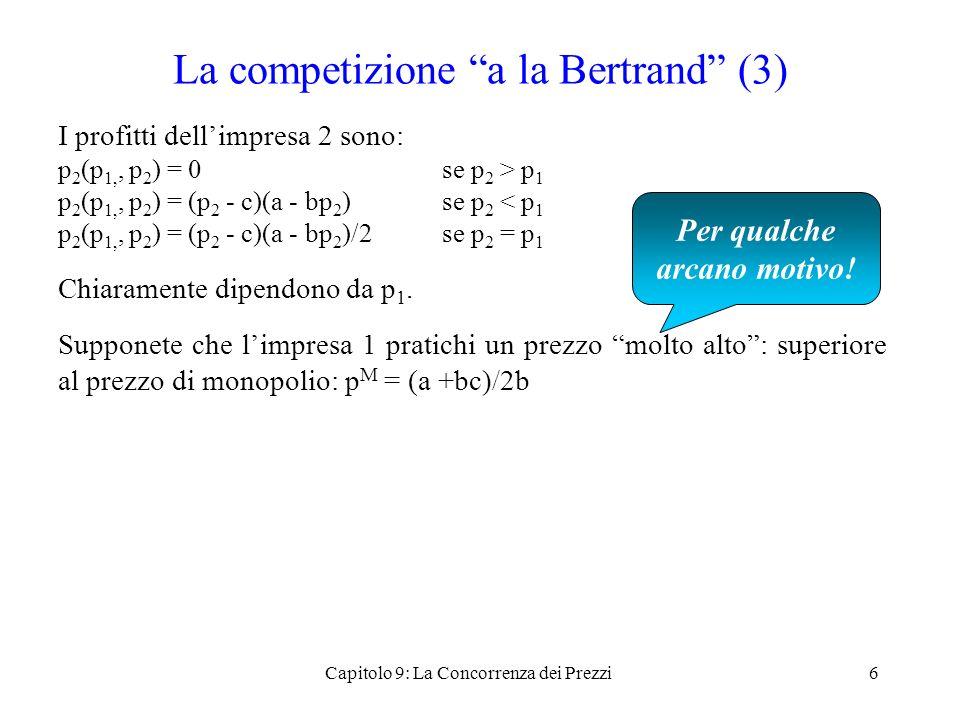 La competizione a la Bertrand (3)