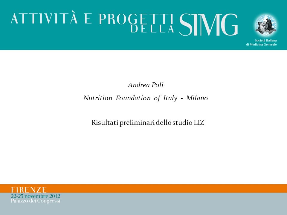 Nutrition Foundation of Italy - Milano