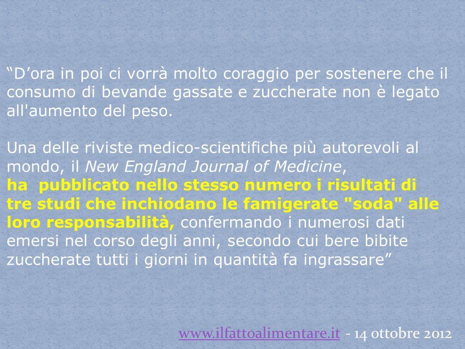 www.ilfattoalimentare.it - 14 ottobre 2012