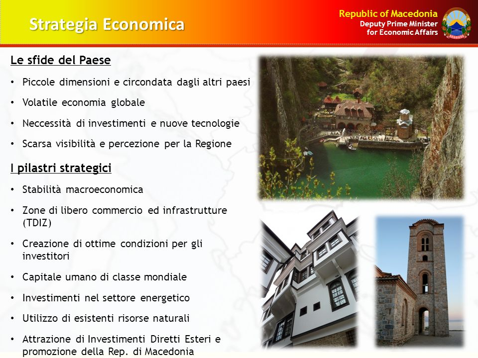 Strategia Economica Le sfide del Paese I pilastri strategici