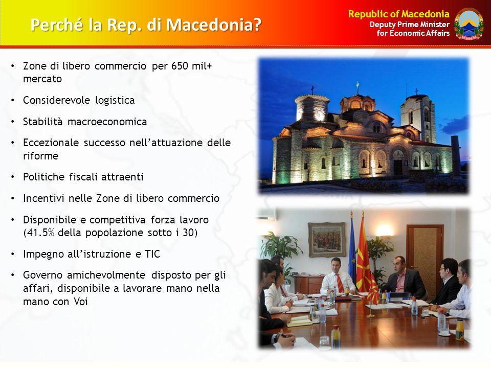 Perché la Rep. di Macedonia
