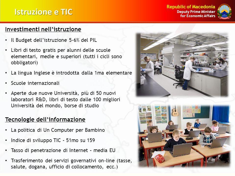 Istruzione e TIC Investimenti nell'istruzione