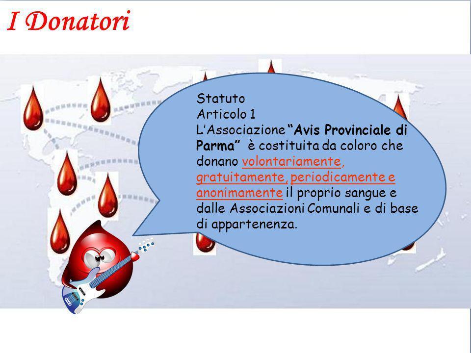 I Donatori Statuto Articolo 1