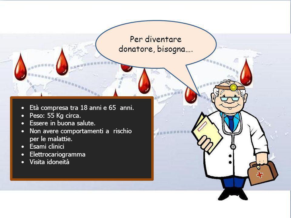 Per diventare donatore, bisogna….
