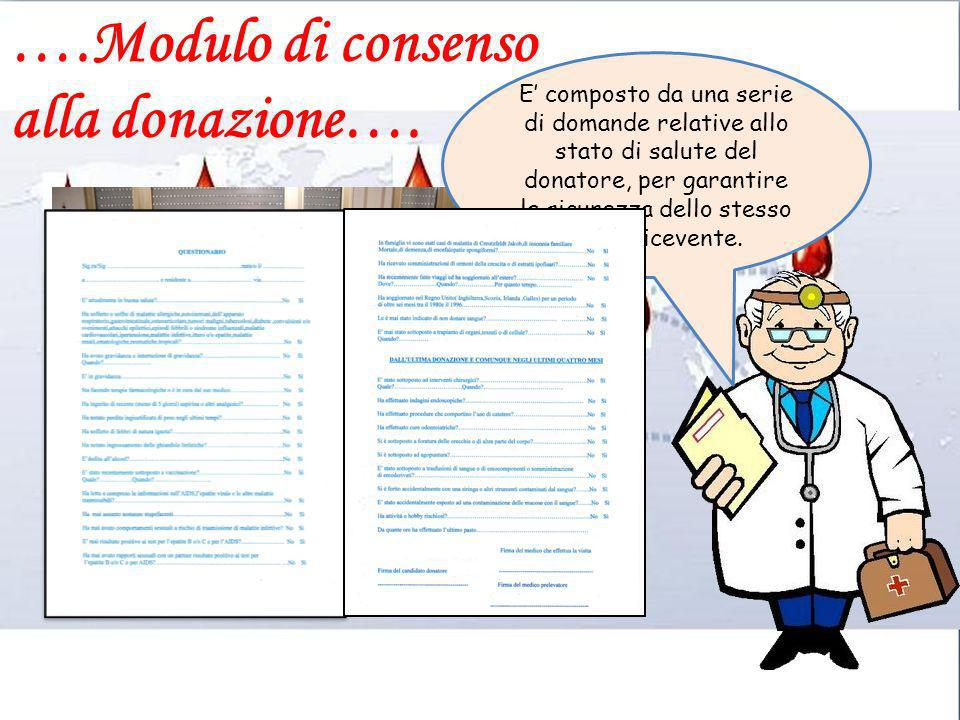 ….Modulo di consenso alla donazione….