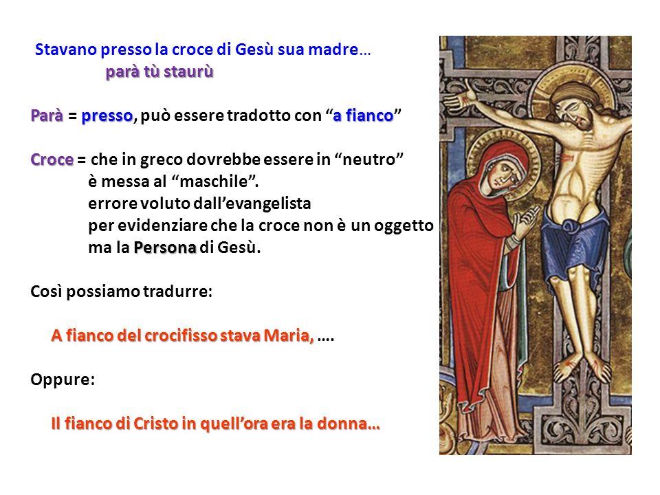 Stavano presso la croce di Gesù sua madre…