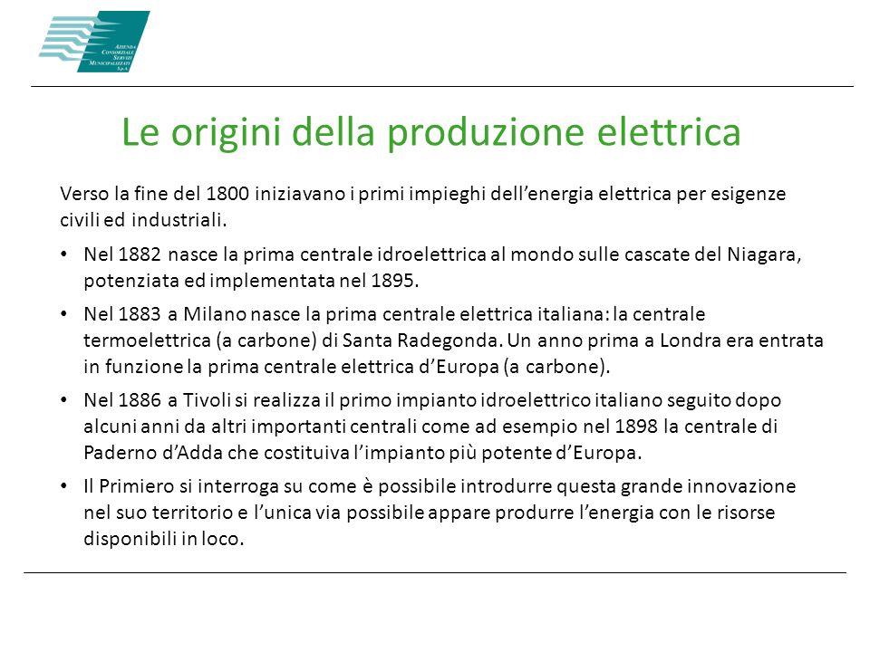 Le origini della produzione elettrica