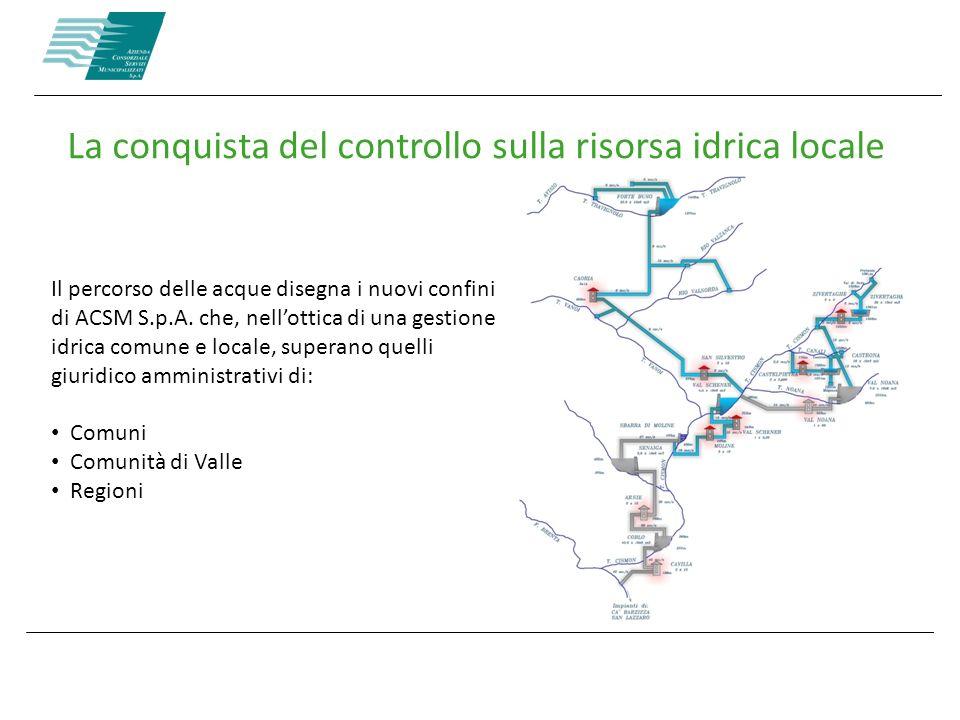 La conquista del controllo sulla risorsa idrica locale