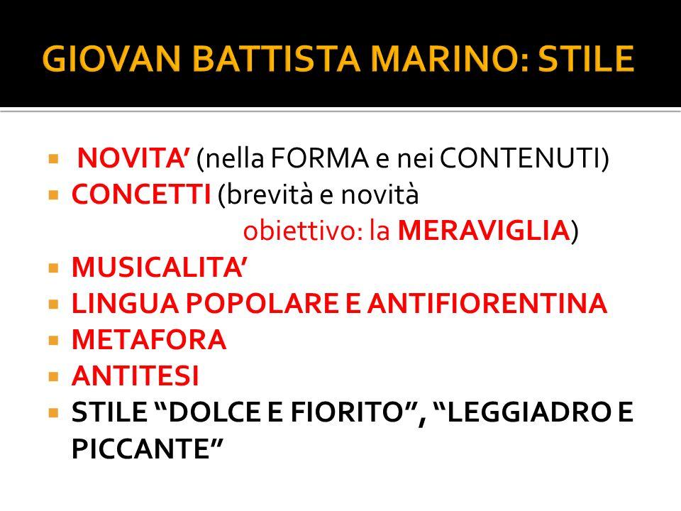 GIOVAN BATTISTA MARINO: STILE