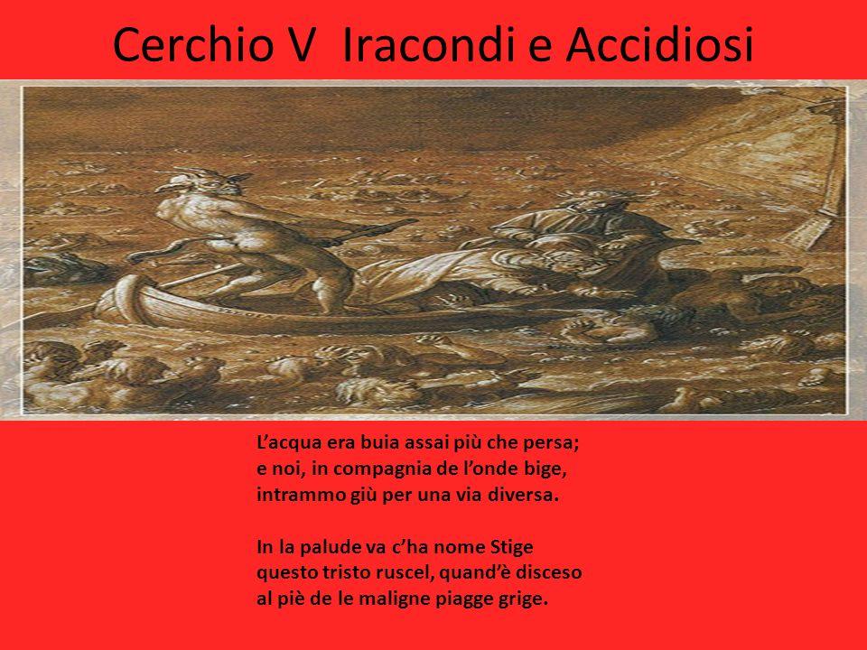 Cerchio V Iracondi e Accidiosi