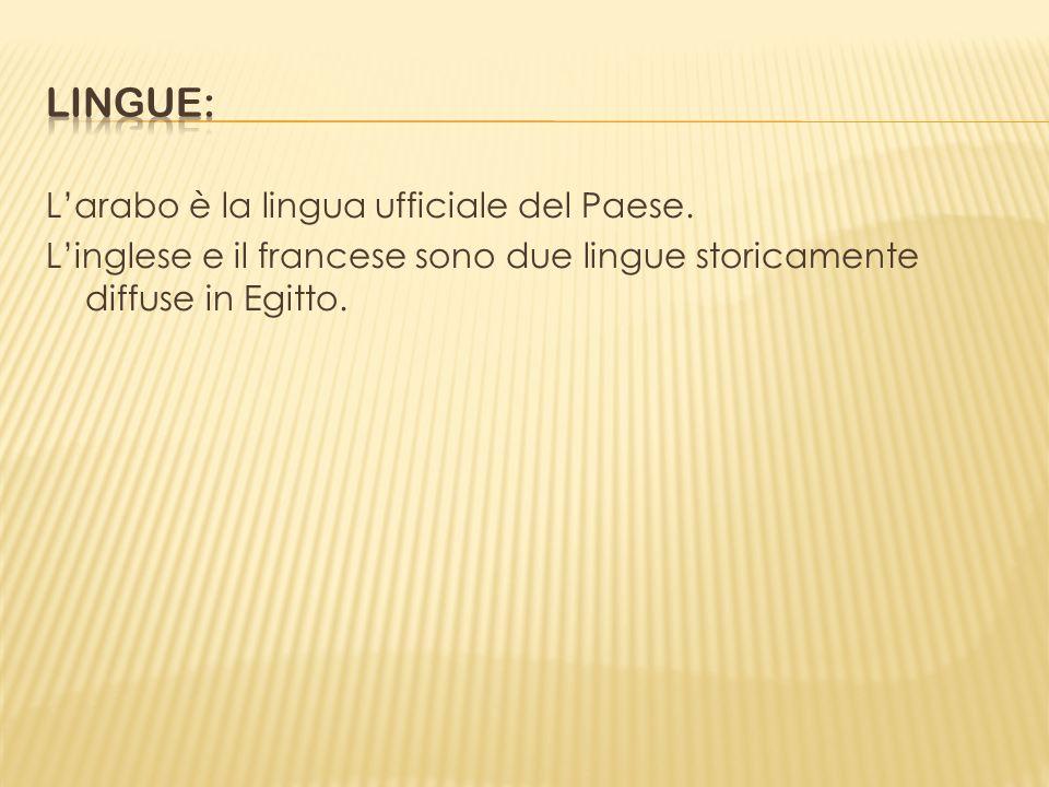 Lingue: L'arabo è la lingua ufficiale del Paese.