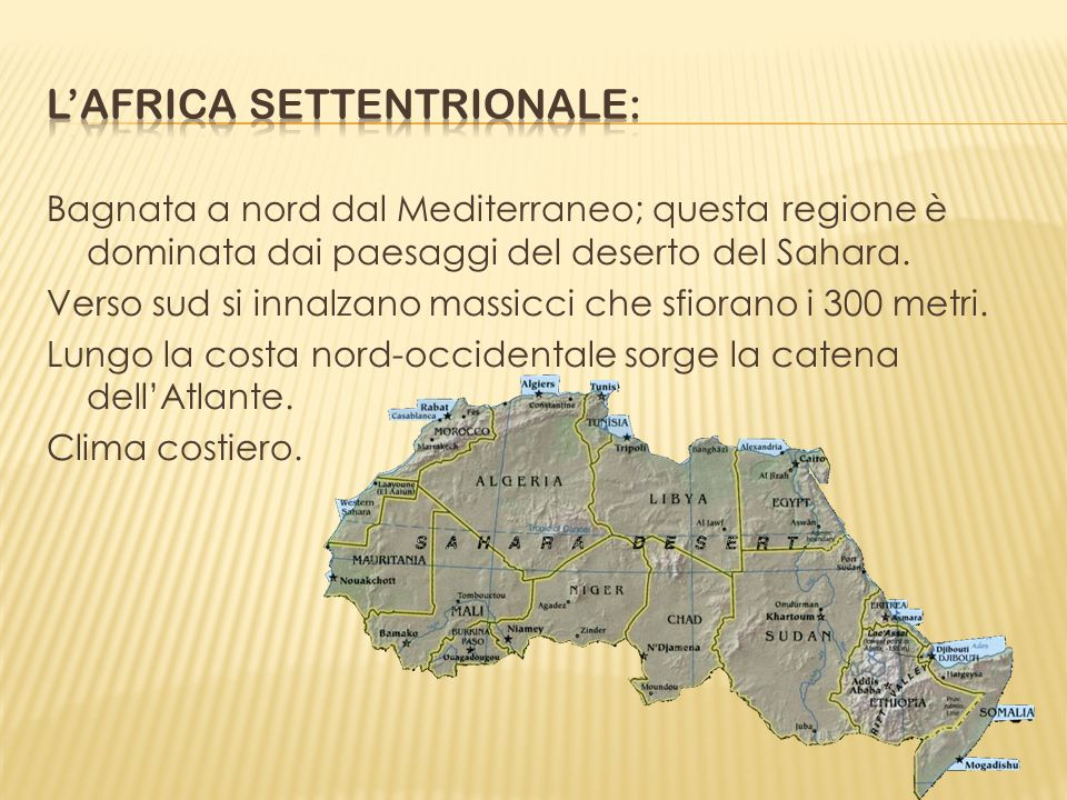 L'africa settentrionale:
