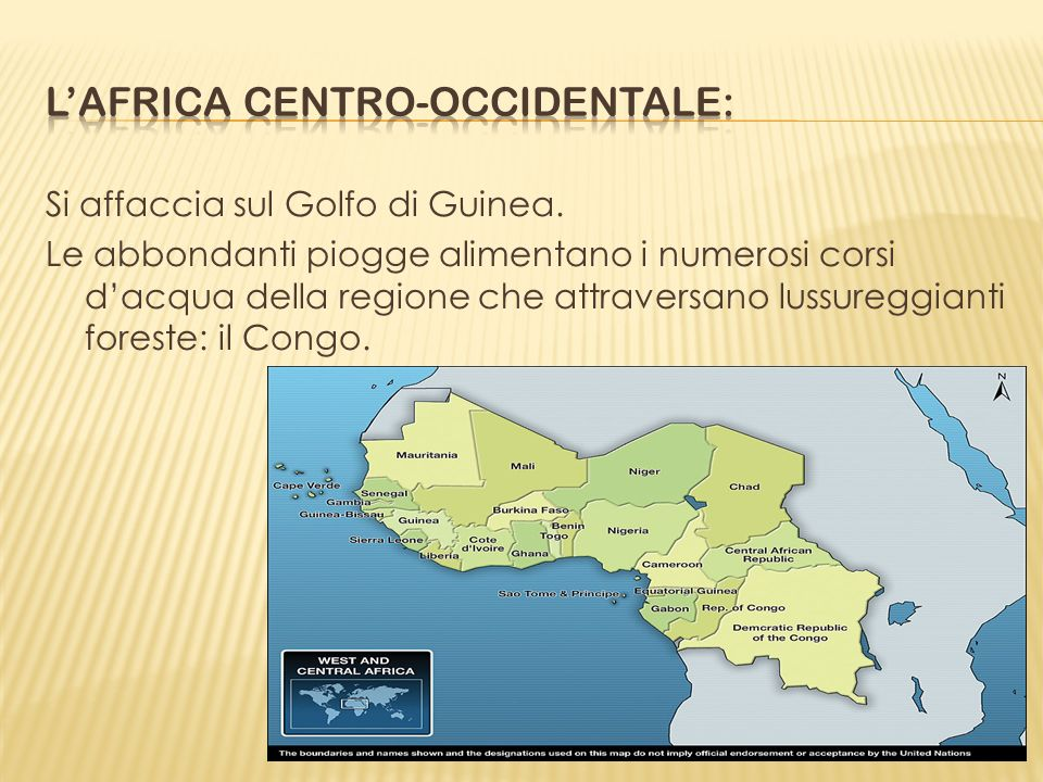 L'africa centro-occidentale: