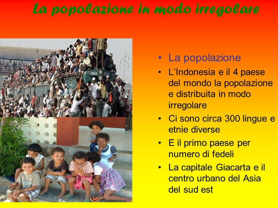La popolazione in modo irregolare