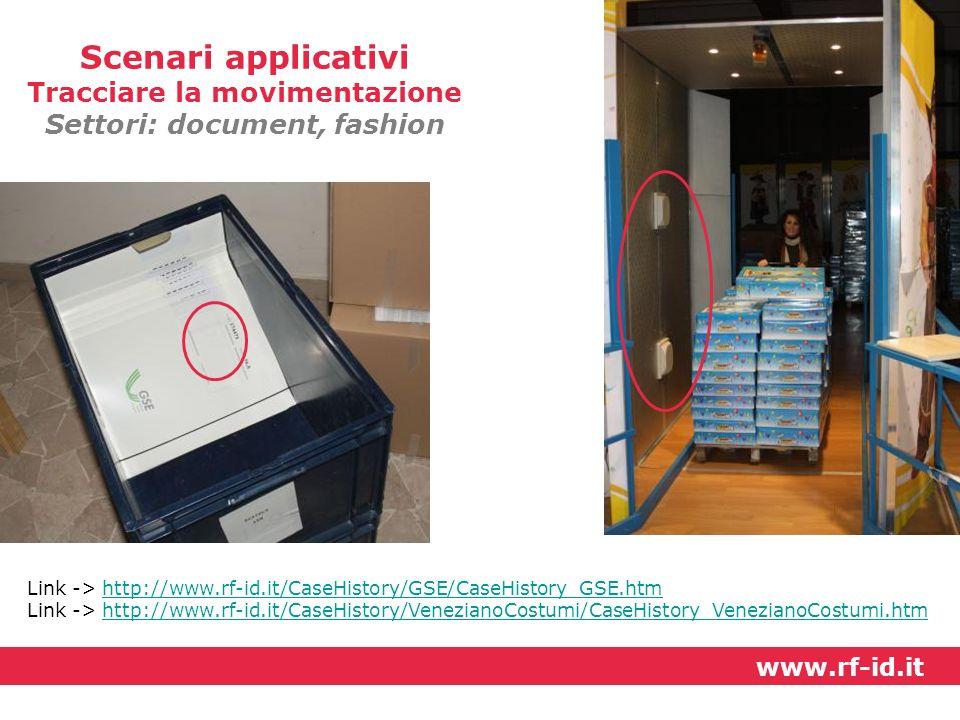 Tracciare la movimentazione Settori: document, fashion