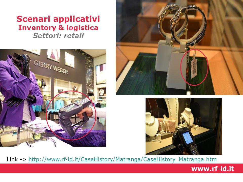 Scenari applicativi Inventory & logistica Settori: retail www.rf-id.it