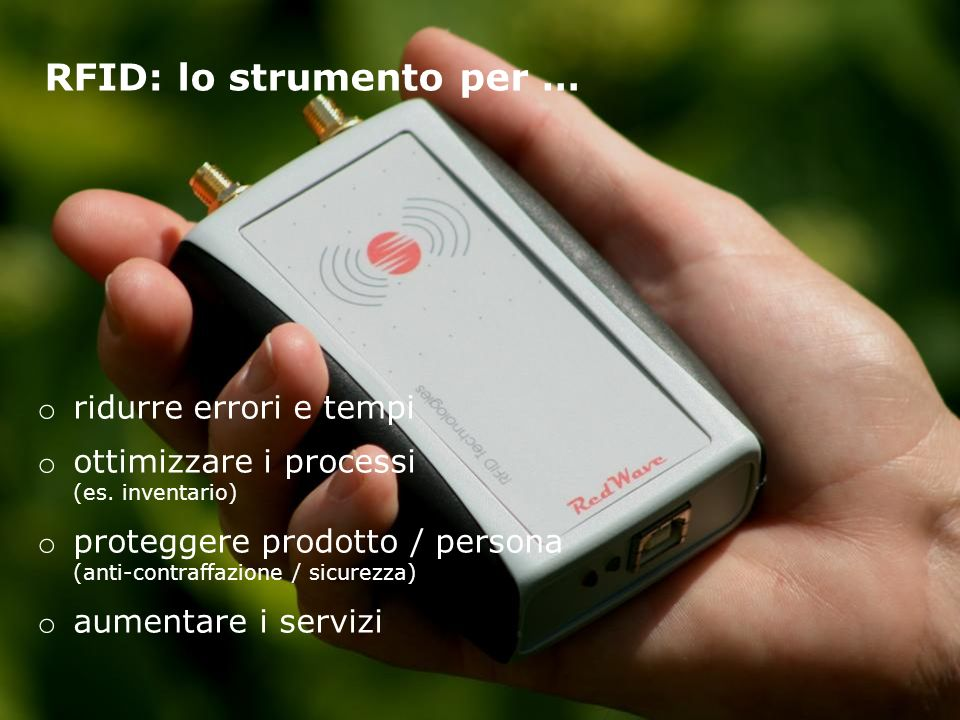 RFID: lo strumento per …