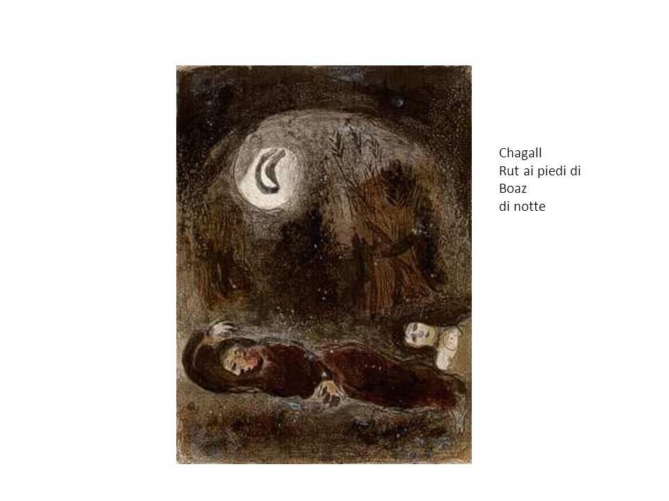 Chagall Rut ai piedi di Boaz di notte