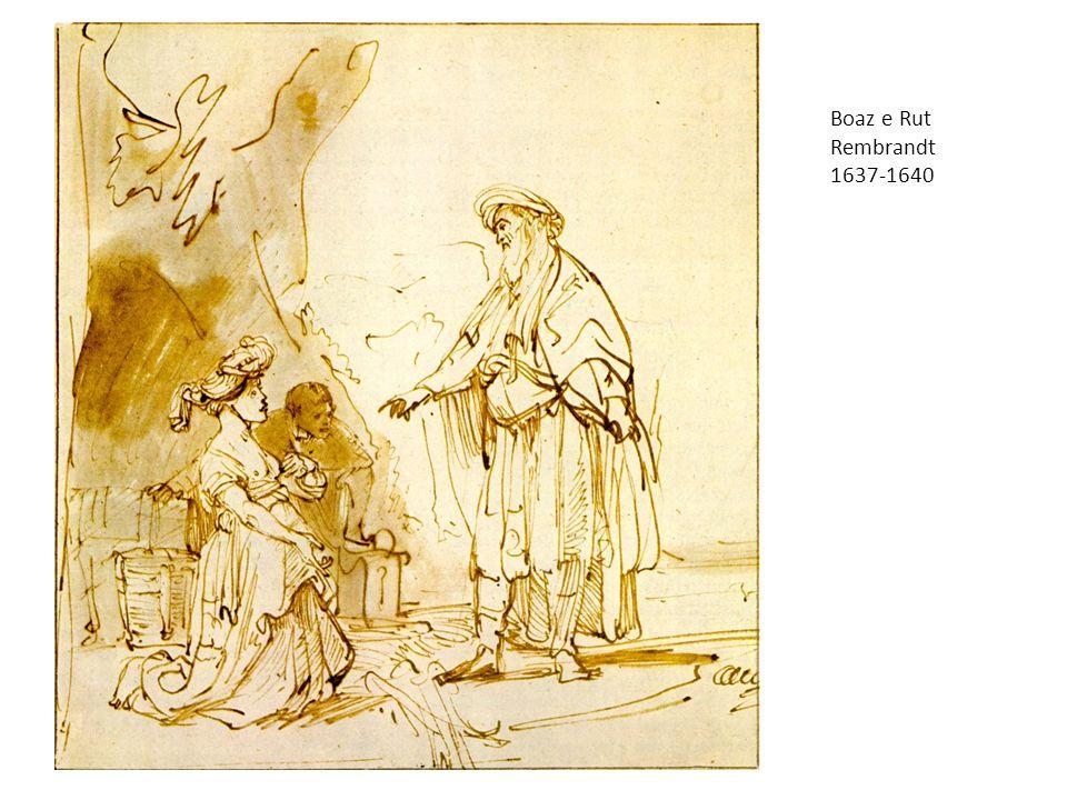 Boaz e Rut Rembrandt. 1637-1640. Rembrandt Harmensz. van Rijn 1606 – 1669 Boaz incontra Rut. Wallpaper.
