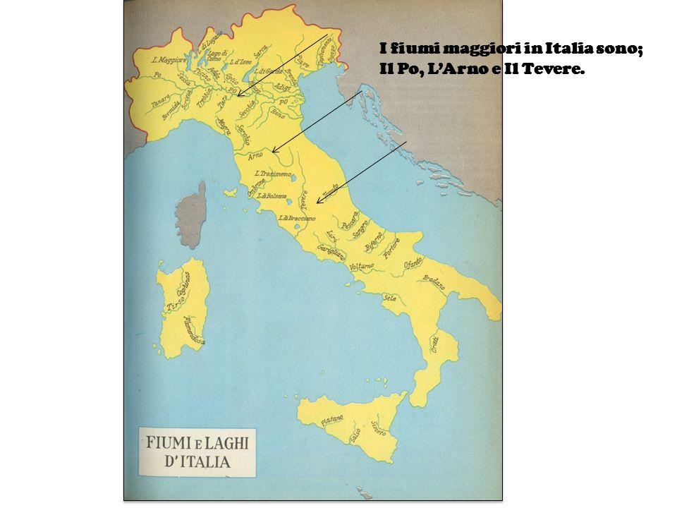 I fiumi maggiori in Italia sono;