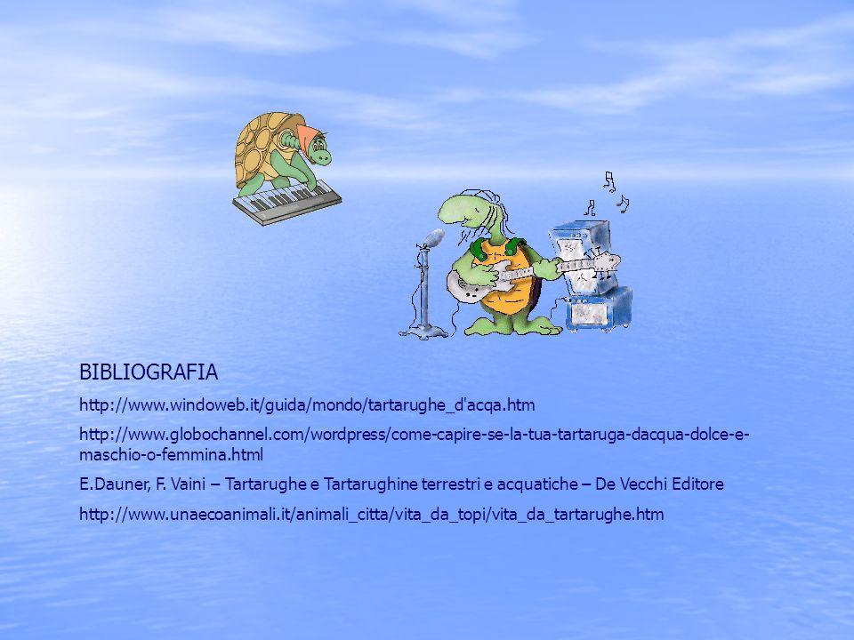 BIBLIOGRAFIA http://www.windoweb.it/guida/mondo/tartarughe_d acqa.htm